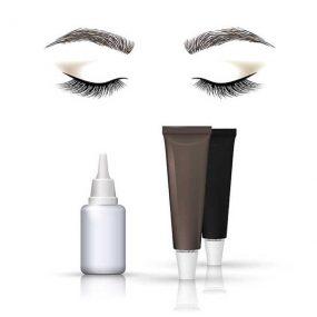 Wimpern und Augenbrauen färben